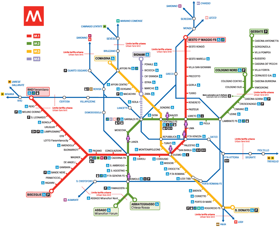 Milan Map Of Metro