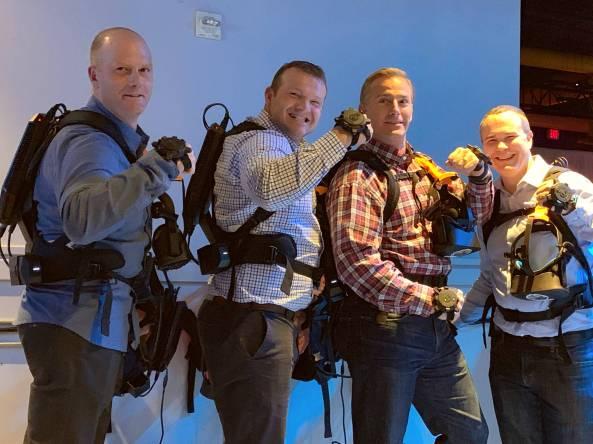 Men in VR Gear